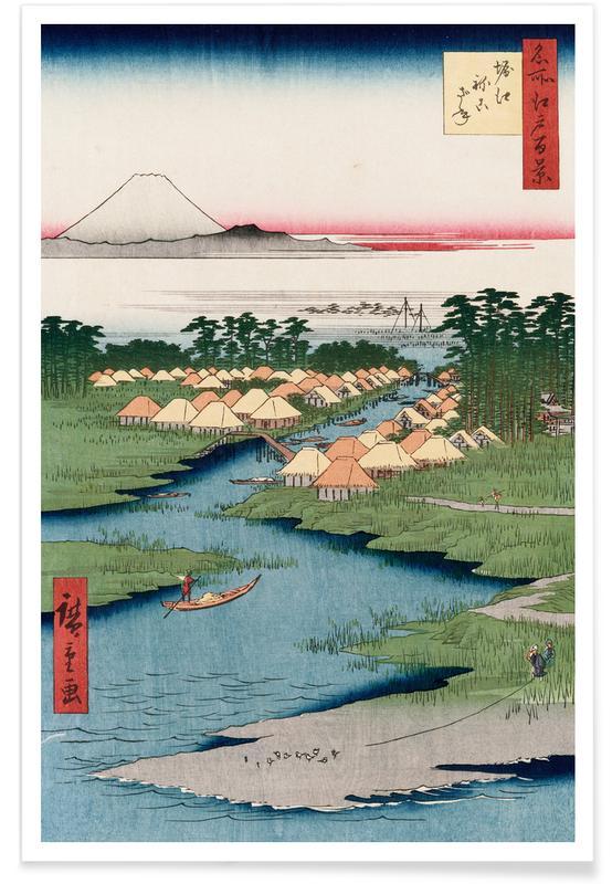 D'inspiration japonaise, Hiroshige - Nekozane at Horikiri affiche