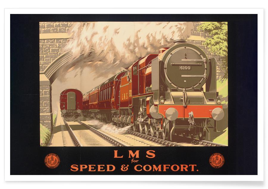 Vintage Reise, Secretan - LMS for Speed and Comfort -Poster