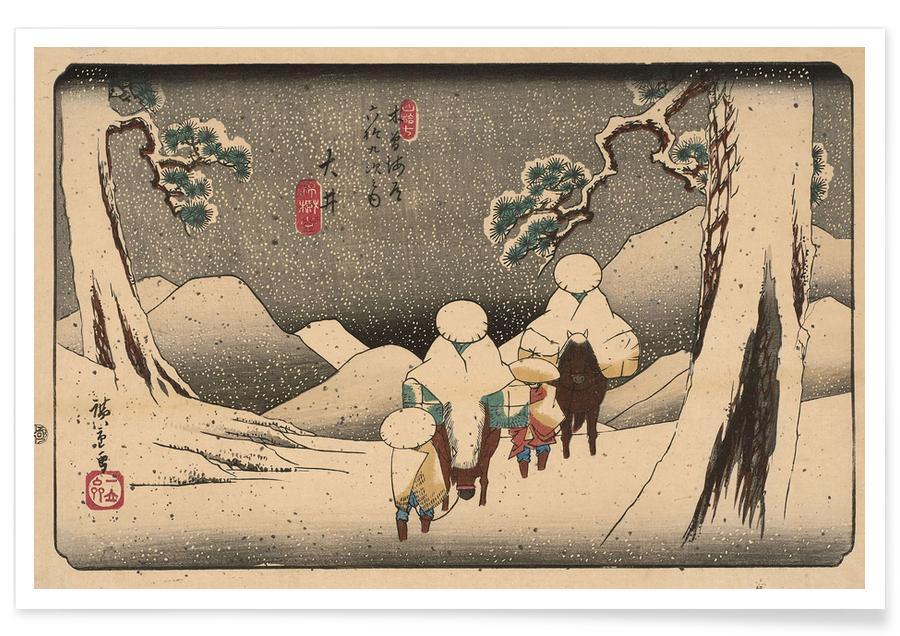 D'inspiration japonaise, Hiroshige - Oi affiche