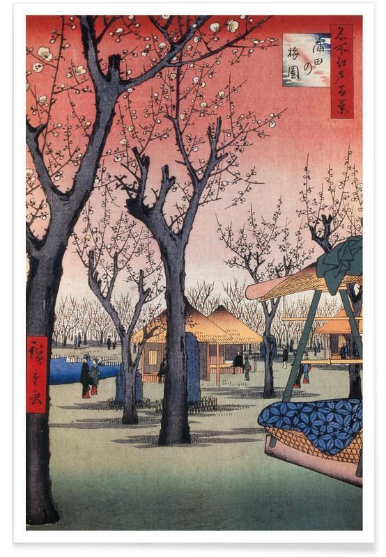 D'inspiration japonaise, Hiroshige - Plum Garden, Kamata affiche