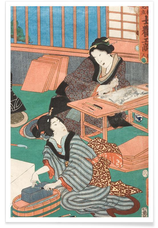Japans geïnspireerd, Kunisada - The Class of the Craftsmen II poster