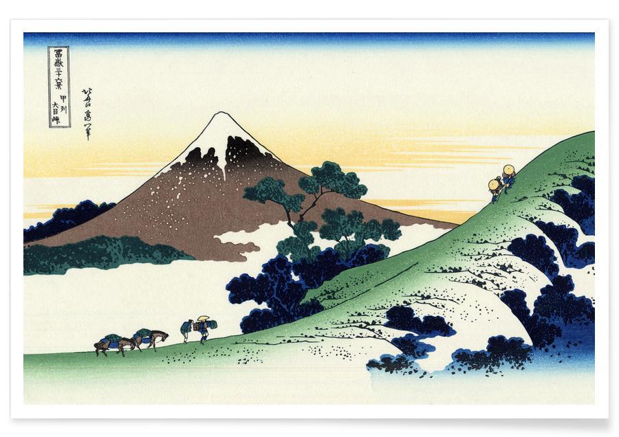 D'inspiration japonaise, Hokusai - Inume Pass in Kai Province affiche