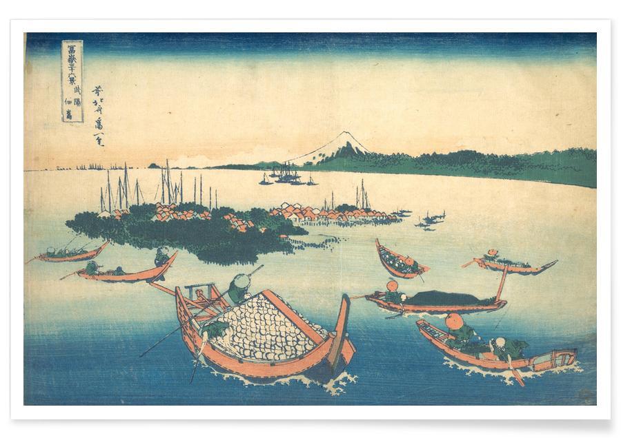Japanisch inspiriert, Hokusai - Tsukuda Island in Musashi Province -Poster