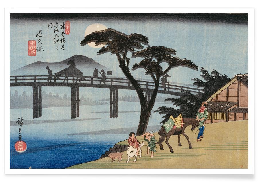 D'inspiration japonaise, Hiroshige- Nagakubo affiche