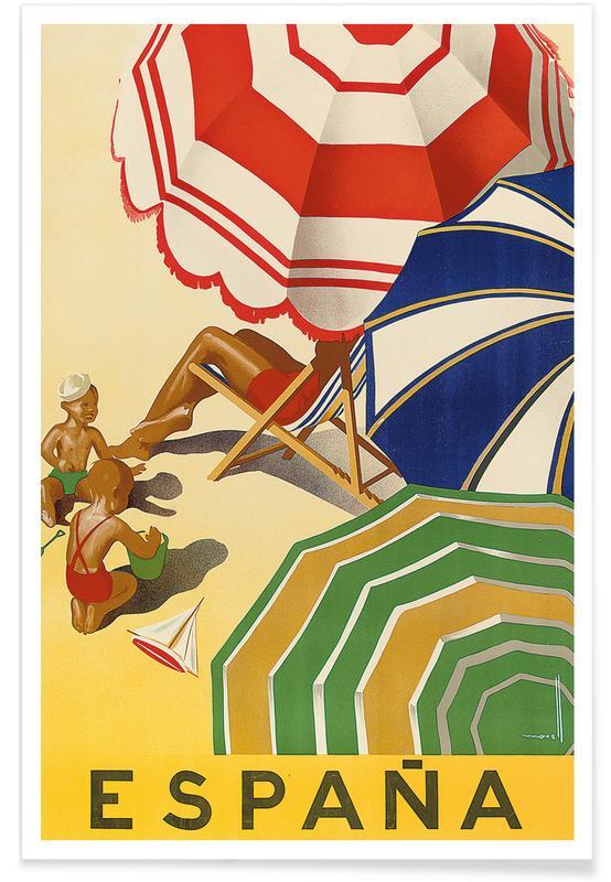 Vintage voyage, Morell - Poster Advertising Spain affiche