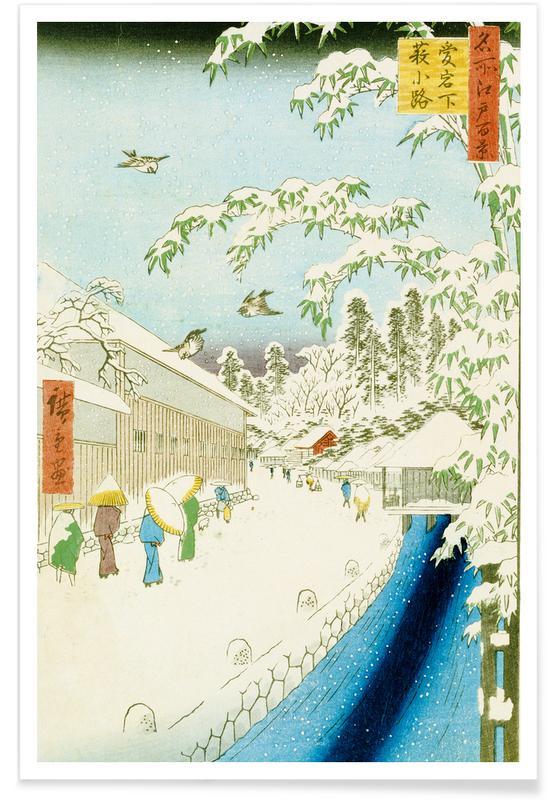 Japanisch inspiriert, Hiroshige - Yabu Street Below Atago -Poster
