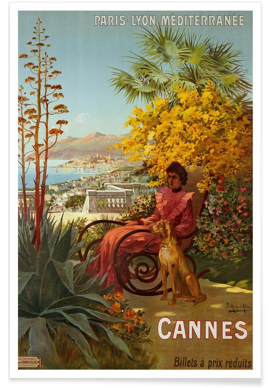 Vintage reis, d'Alesi - Cannes poster