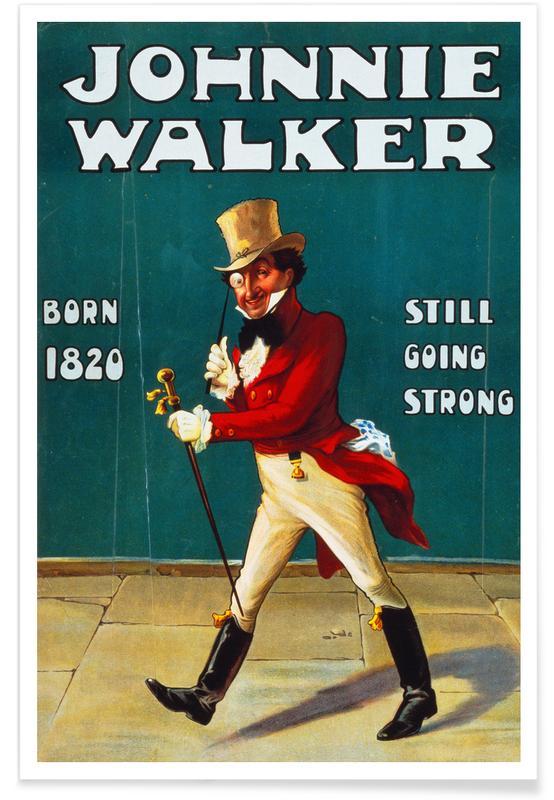 Vintage Reise, Johnny Walker -Poster