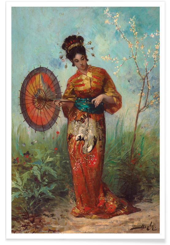 D'inspiration japonaise, Beyle - A Japanese Woman with a Parasol affiche