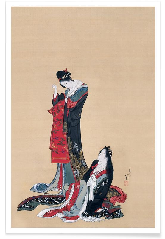 D'inspiration japonaise, Hokusai - Two Courtesans, Edo Period affiche