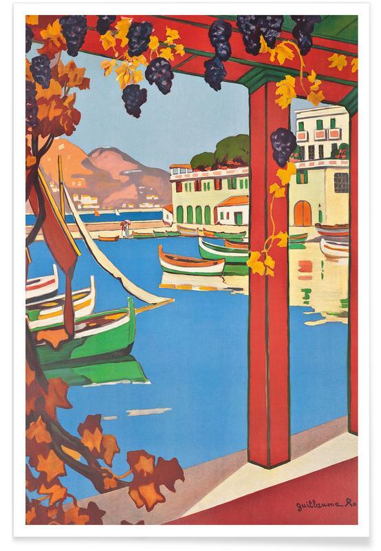 Vintage Travel, Roger - Cote d'Azur Poster