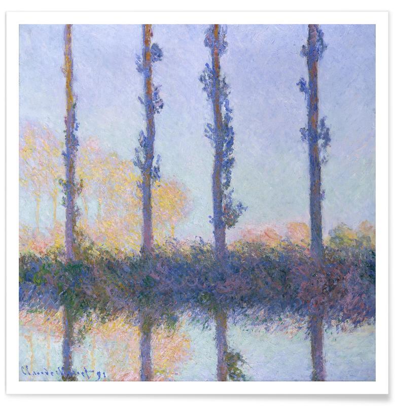 Oceanen, zeeën en meren, Claude Monet, Bomen, Monet - The Four Trees poster