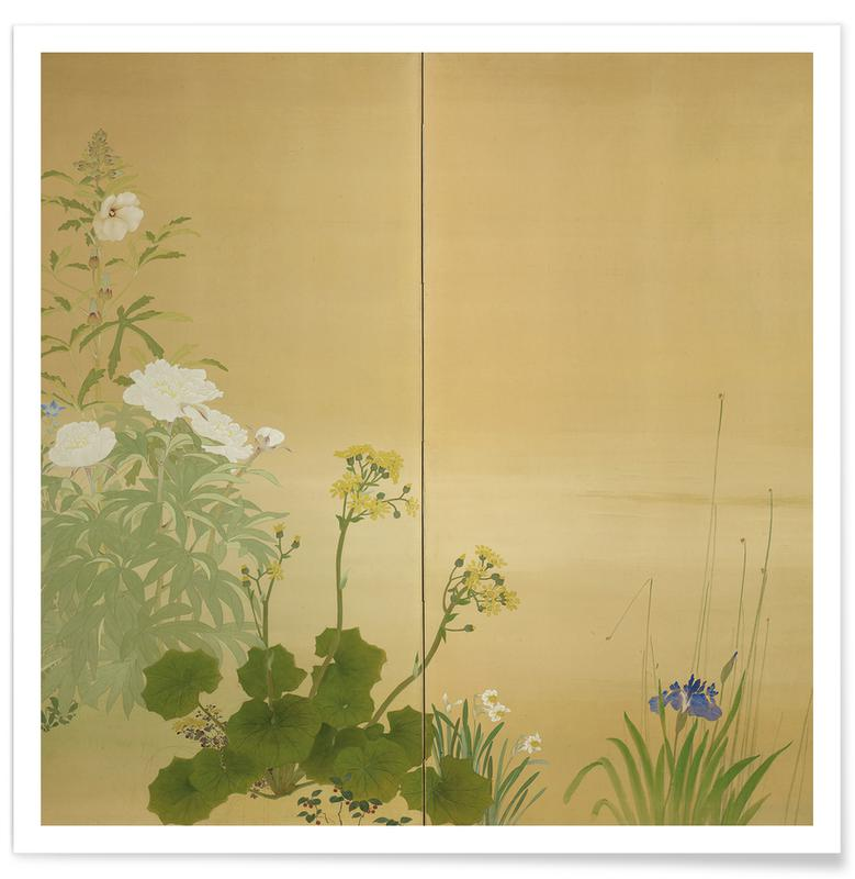 Japanese Inspired, Flowers of the Four Seasons Poster