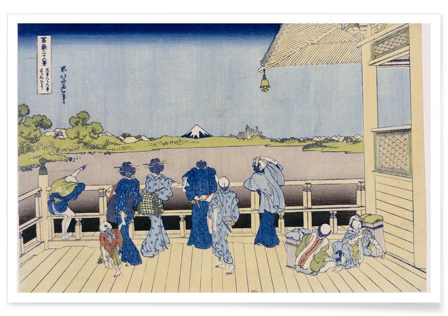 Japanese Inspired, Sazai Hall of Five-hundred-Rakanji Temple Poster