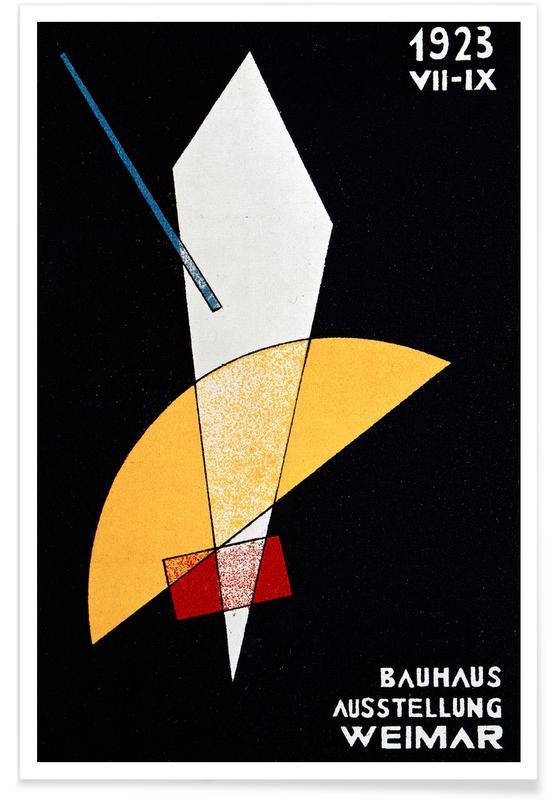 László Moholy-Nagy, László Moholy-Nagy - Card for a Bauhaus Exhibition, Weimar Poster