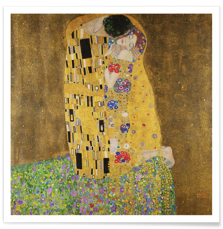 Couples, Portraits, Gustav Klimt, Klimt - The Kiss Poster