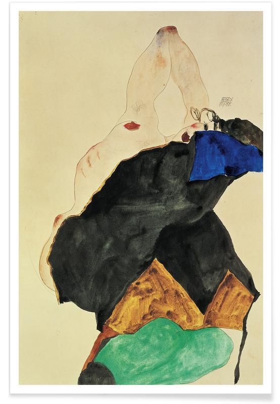 Body close-ups, Egon Schiele, Schiele - Girl with Elbow Raised poster