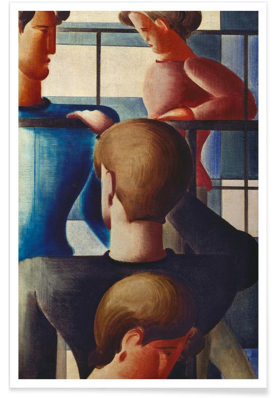 Body Close-Ups, Oskar Schlemmer, Schlemmer - Group at Railing I Poster