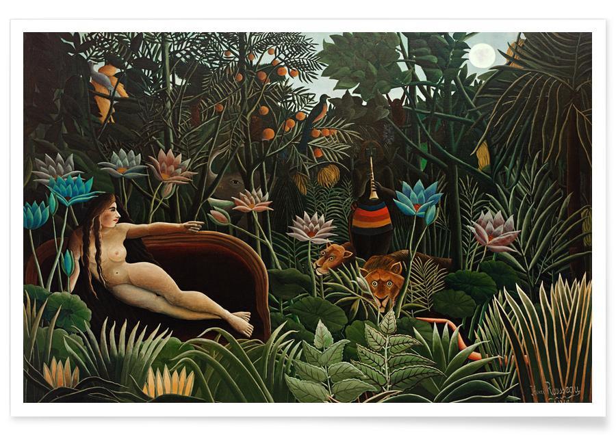 Nøgen, Henri Rousseau, Krops nærbilleder, Drømmende, Skove, Rousseau - The Dream Plakat