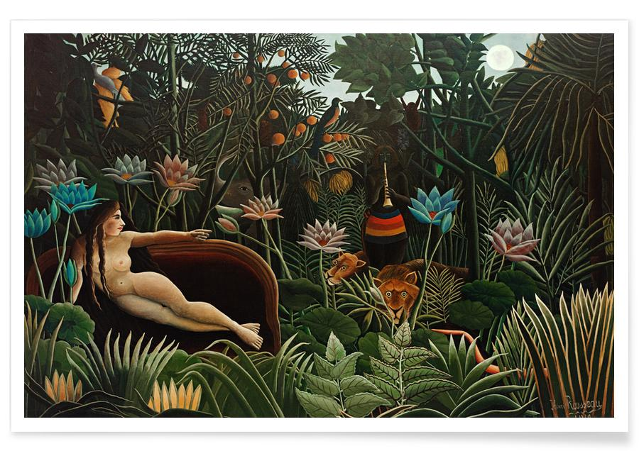 Henri Rousseau, Body close-ups, Dromerig, Naakt, Bossen, Rousseau - The Dream poster