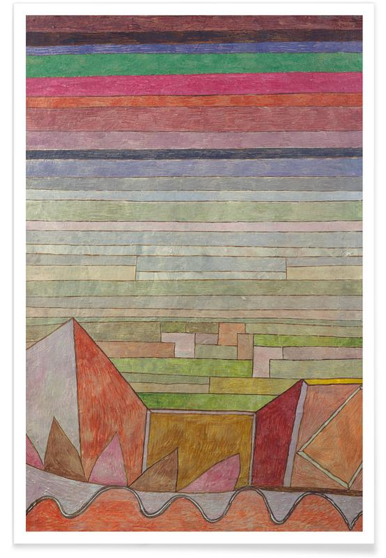 Paysages abstraits, Paul Klee, Klee - View into the Fertile Country affiche