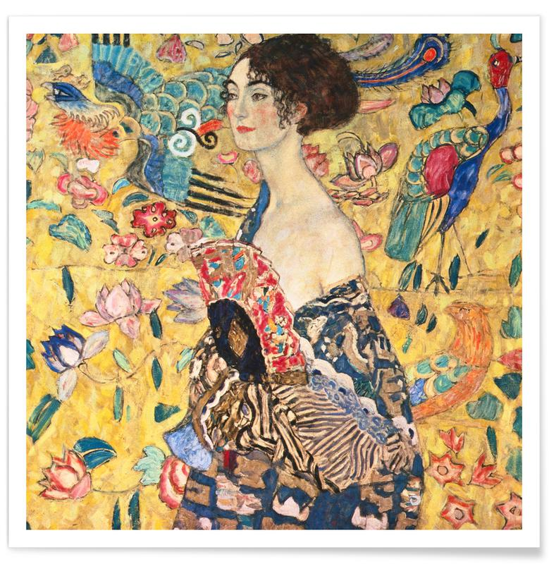 Gustav Klimt, Klimt - Lady with Fan poster
