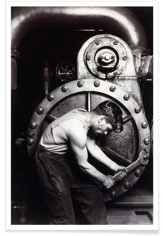 Lewis Wickes Hine, Lewis Wickes Hine - Power House Mechanic Poster