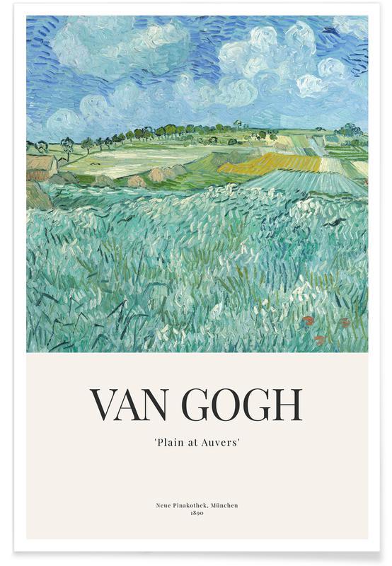 Vincent Van Gogh, van Gogh - Plain of Auvers -Poster