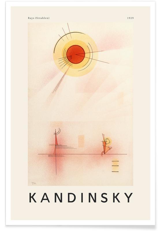 Wassily Kandinsky, Kandinsky - Rays affiche
