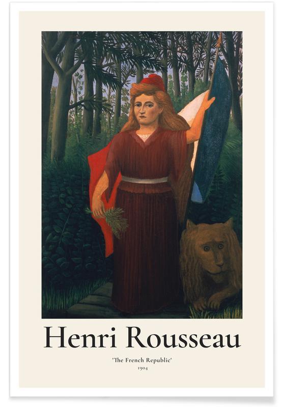 Henri Rousseau, Portraits, Rousseau - The French Republic affiche