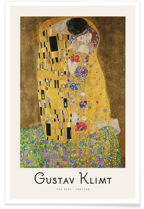 Portraits, Gustav Klimt, Klimt - The Kiss affiche