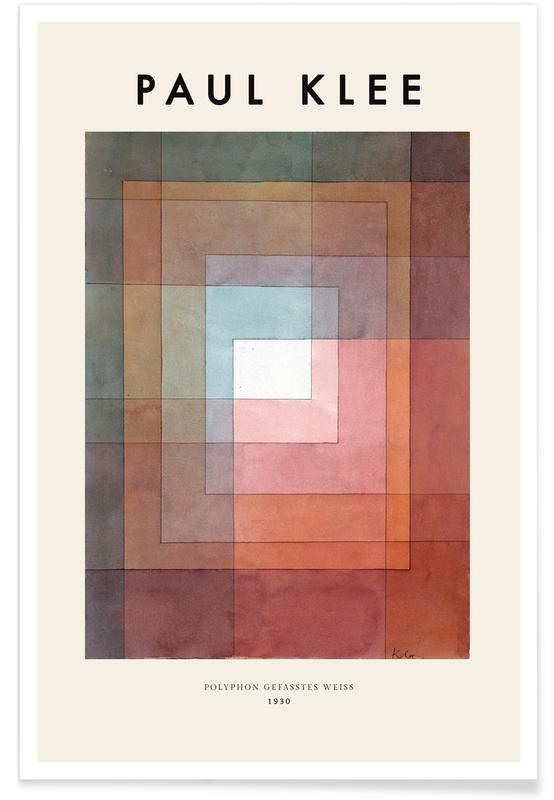 Paul Klee, Klee - White Framed Polyphonically -Poster