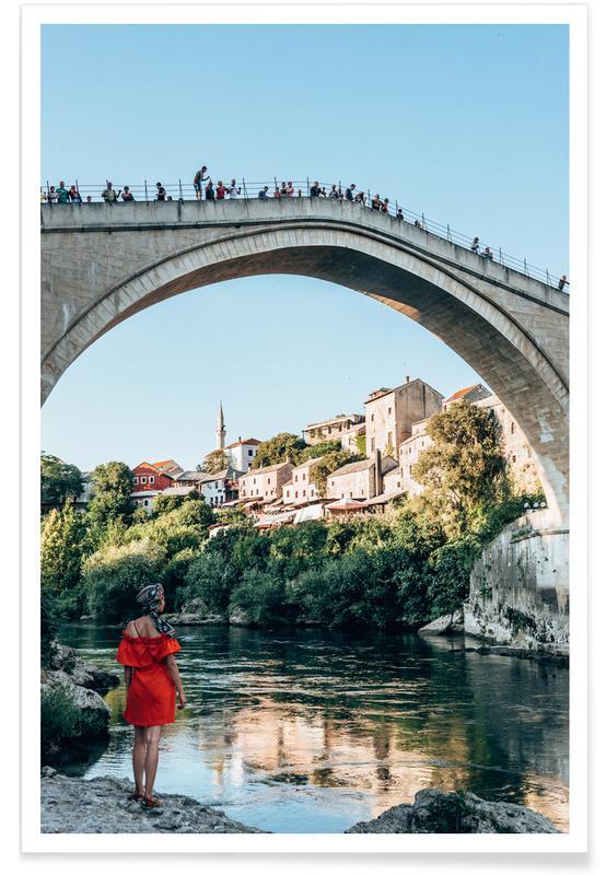 Reise, Mostar by Reisevergnügen -Poster