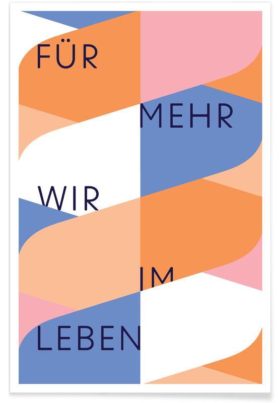 Quotes en slogans, Leben 1 poster