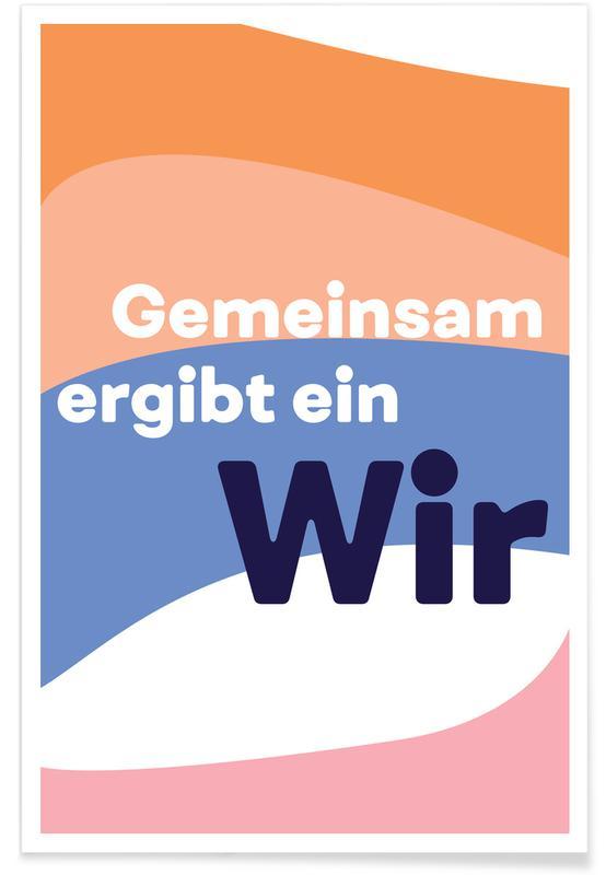 Zitate & Slogans, Gemeinsam -Poster