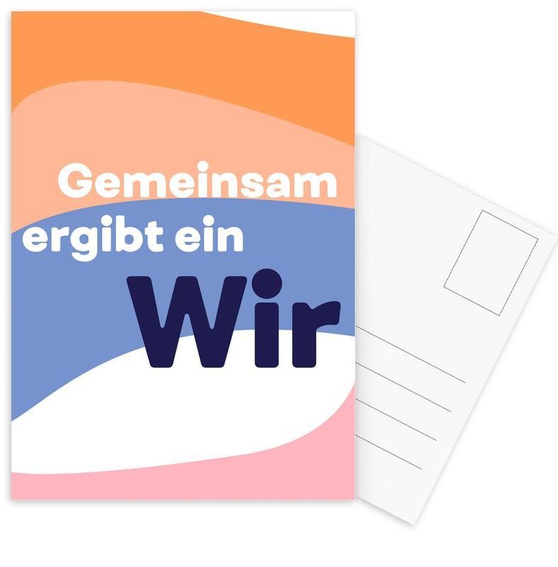 Quotes & Slogans, Gemeinsam Postcard Set