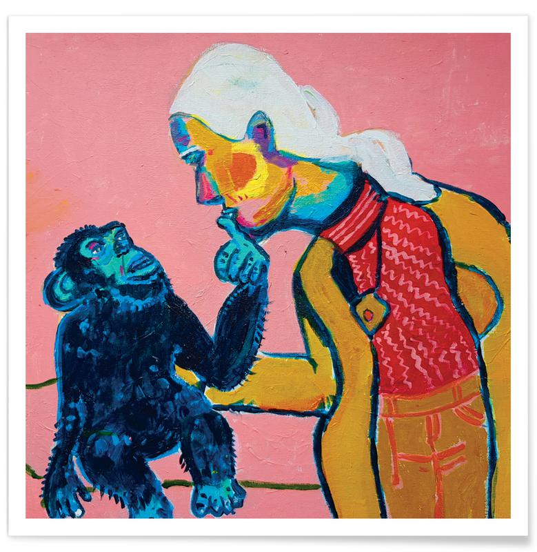 Singes, Portraits, Jane Goodall 2 affiche