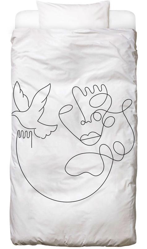 Schwarz & Weiß, Traumwelt, Fly On Bettwäsche
