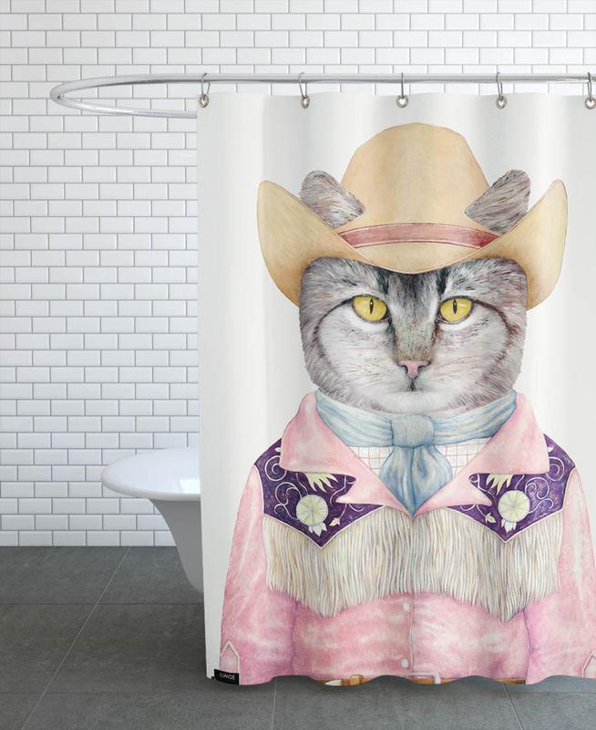 Country Cat -Duschvorhang