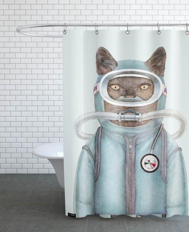 Creatures & Hybrids, Scuba Cat Shower Curtain