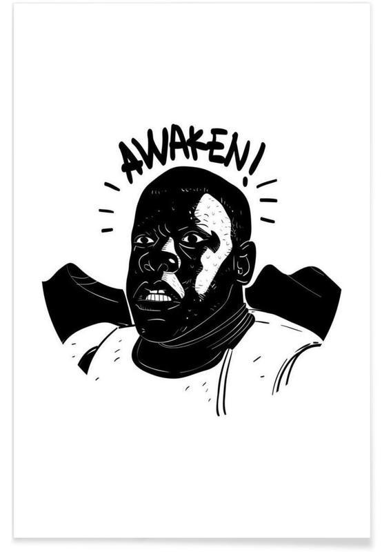Zwart en wit, Films, Street art, Awaken poster