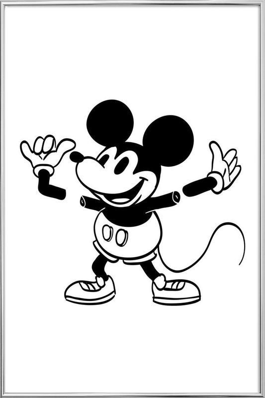 Mickey Poster in Aluminium Frame