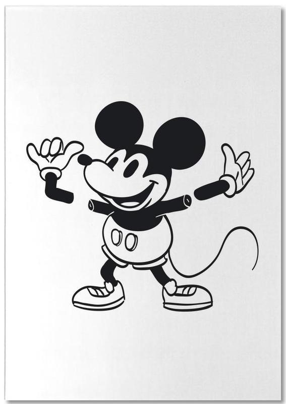 Schwarz & Weiß, Lustig, Mickey -Notizblock