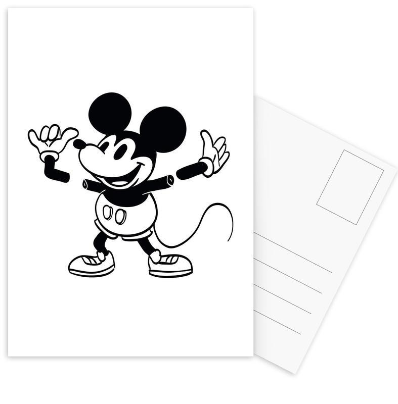 Black & White, Funny, Mickey Postcard Set