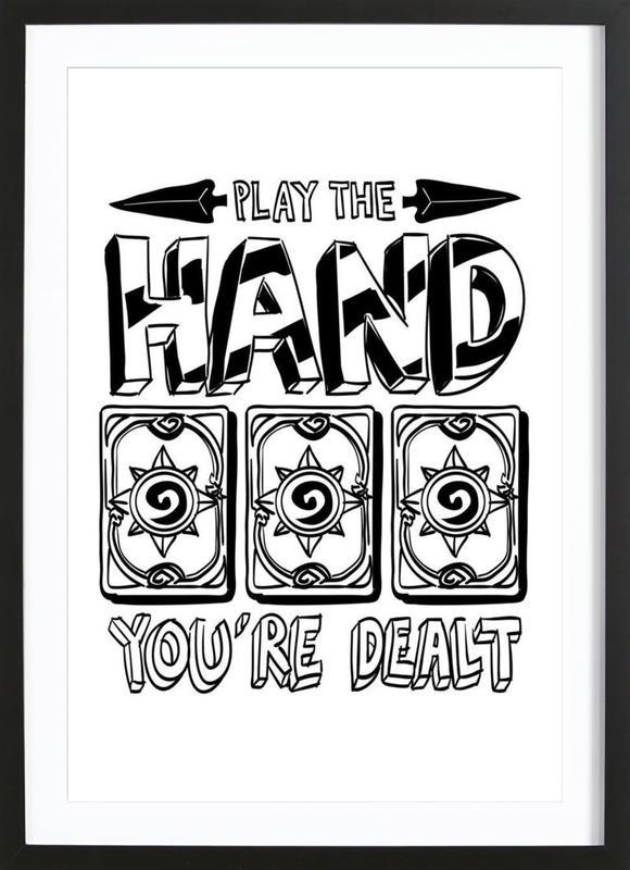 Play The Hand Framed Print