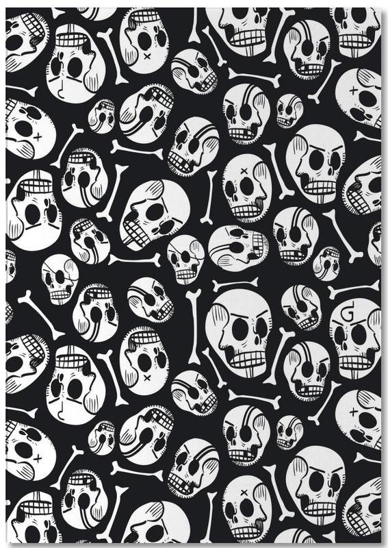 Black & White, Skulls, Skulls Notepad
