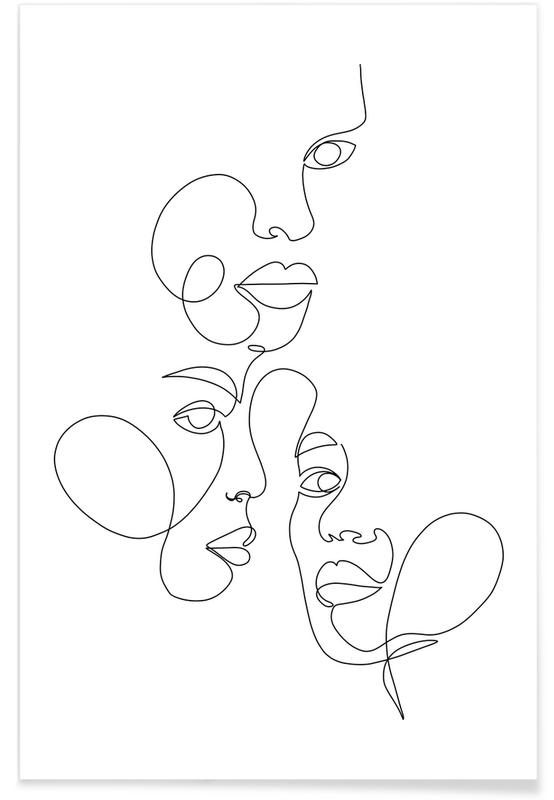 Noir & blanc, Rêve, Daydream affiche