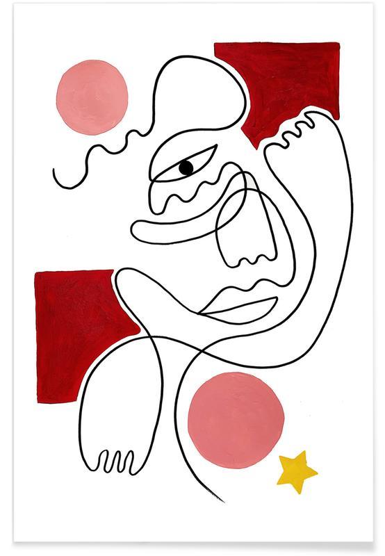 Dreamy, Portraits, Roya Poster