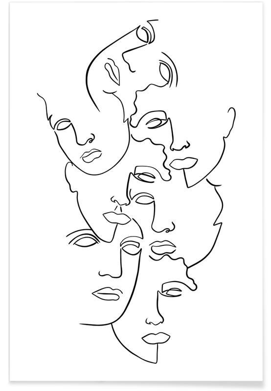 Noir & blanc, Portraits, Rêve, Belonging affiche