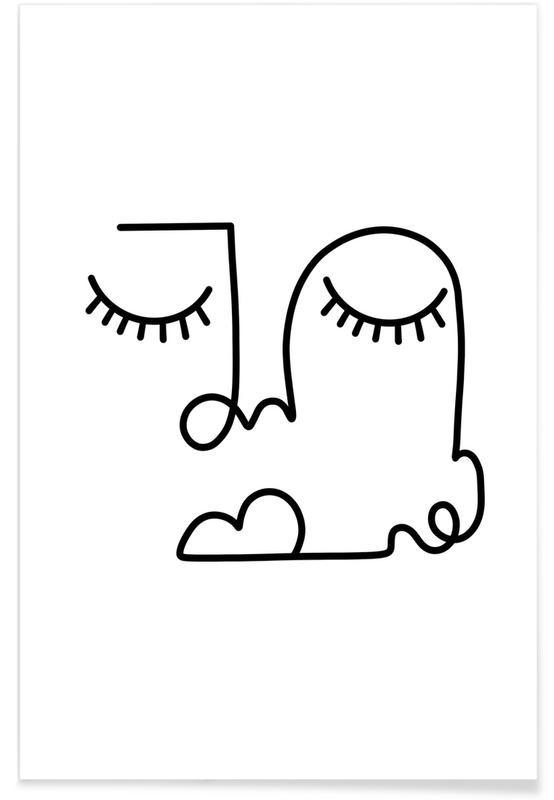 Noir & blanc, Rêve, Sleeping Beauty affiche